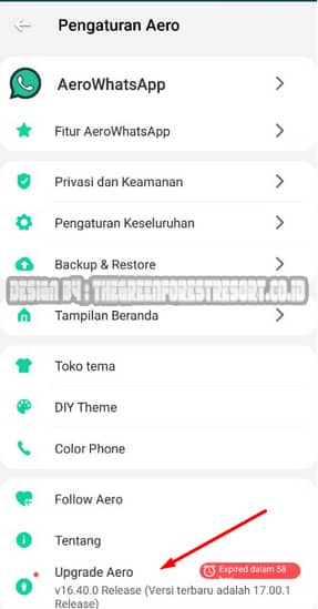 Cara Update Aplikasi WhatsApp Aero