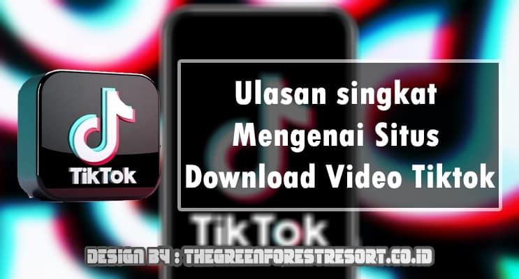 Ulasan singkat Mengenai Situs Download Video Tiktok