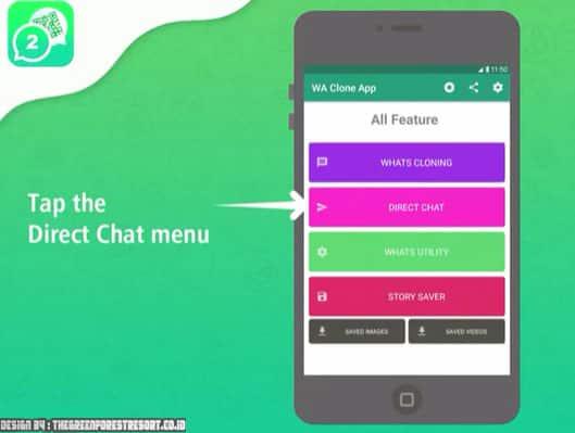 cara menggunakan direct chat 1