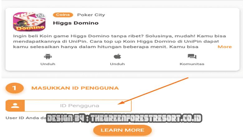 bagaimana cara top up higgs domino?